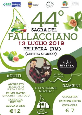 Sagra del Fallacciano 2019 a Bellegra (RM) | Sagre nel Lazio