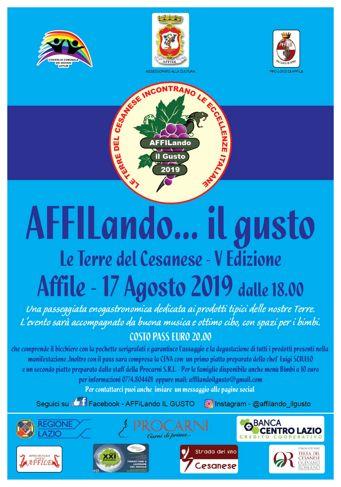 AFFILando...il Gusto 2019 ad Affile | Fiere nwel Lazio