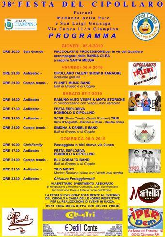 Festa del Cipollaro 2019 a Ciampino (RM) | Eventi Musicali nel Lazio