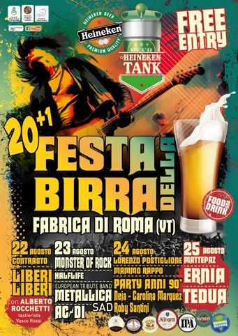 Festa della Birra 2019 a Fabrica di Roma (VT) | Eventi Musicali nel Lazio