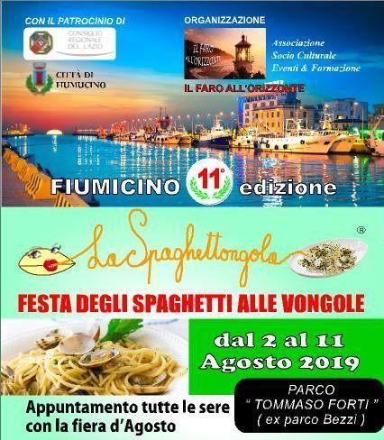 La Spaghettongola - Festa degli Spaghetti alle Vongole 2019 a Fiumicino (RM) | Sagre nel Lazio