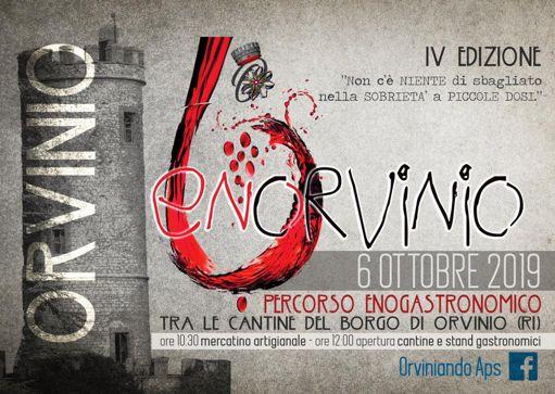 Enorvinio 2019 a Orvinio (RI)   Eventi enogastronimici nel Lazio