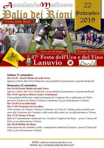 Festa dell'Uva e del Vino 2019 a Lanuvio (RM) | Eventi enogastronomici nel Lazio