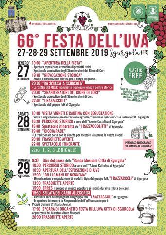 Festa dell'Uva 2019 a Sgurgola (FR) | Eventi enogastronomici nel Lazio