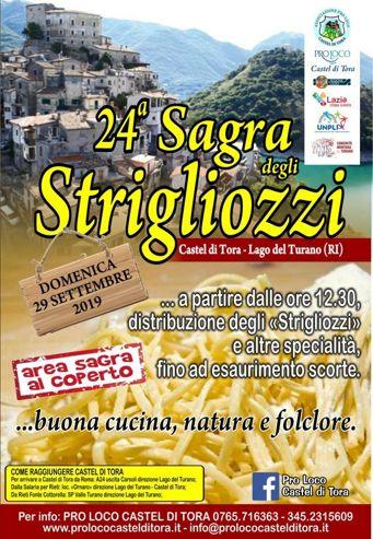 Sagra degli Strigliozzi 2019 a Castel di Tora (RI) | Sagre nel Lazio