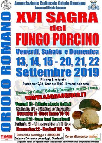 Sagra del Fungo Porcino 2019 a Oriolo Romano (VT) | Sagre nel Lazio