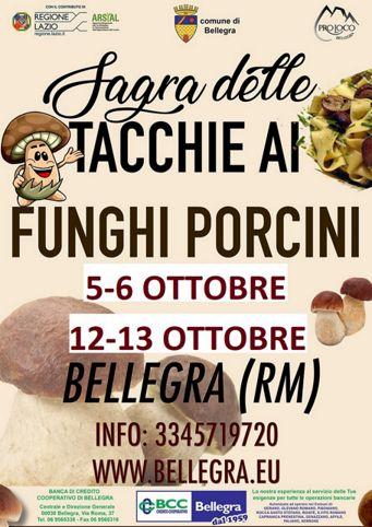 Sagra delle Tacchie ai Funghi Porcini 2019 a Bellegra (RM) | Sagre nel Lazio