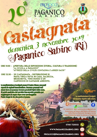 Castagnata 2019 a Paganico Sabino (RI) | Sagre nel Lazio