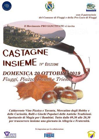 Castagne Insieme 2019 a Fiuggi (FR) | Eventi enogastronomici nel Lazio