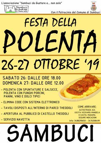 Festa della Polenta 2019 a Sambuci (RM) | Sagre nel Lazio