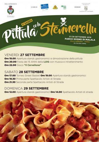 Sagra della della Pittula co lu Stennerellu 2019 a Tivoli (RM) | Sagre nel Lazio