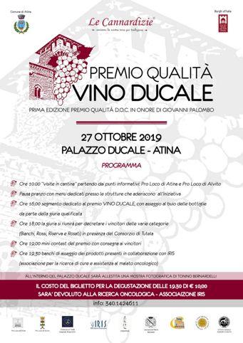 Vino Ducale 2019 ad Atina (FR) | Festival e rassegne nel Lazio