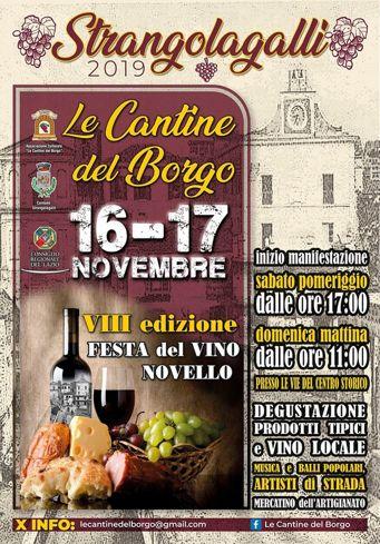 Festa del Vino Novello 2019 a Strangolagalli (FR) | Eventi enogastronomici nel Lazio