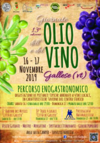 Giornate dell'Olio e del Vino a Gallese (VT) | Fiere nel Lazio