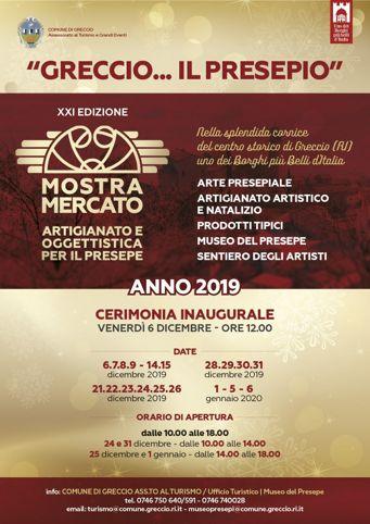 Mercatino di Natale 2019 a Greccio (RI) I Mercatini di Natale più belli del Lazio