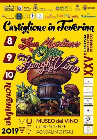 Festival enogastronomico San Martino Olio Funghi e Vino 2019 a Castiglione in Teverina (VT) | Sagre nel Lazio
