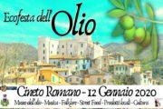 Ecofesta dell'Olio 2020 a Cineto Romano (RM)