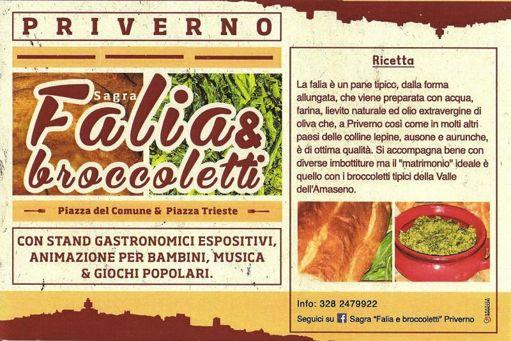 Sagra Falia e Broccoletti a Priverno (LT) | Sagre nel Lazio