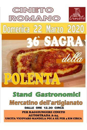 Sagra della Polenta 2020 a Cineto Romano (RM) | Sagre nel Lazio