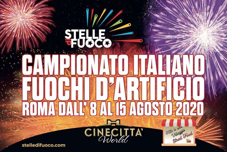 Campionato Italiano Fuochi d'artificio - Stelle di Fuoco 2020 a Roma   Eventi a Roma