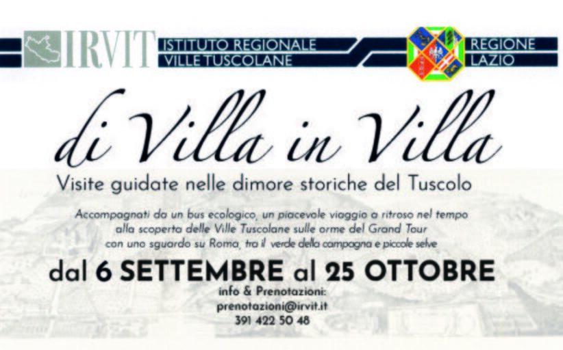 Di Villa in Villa: Scopri le dimore storiche del Tuscolo
