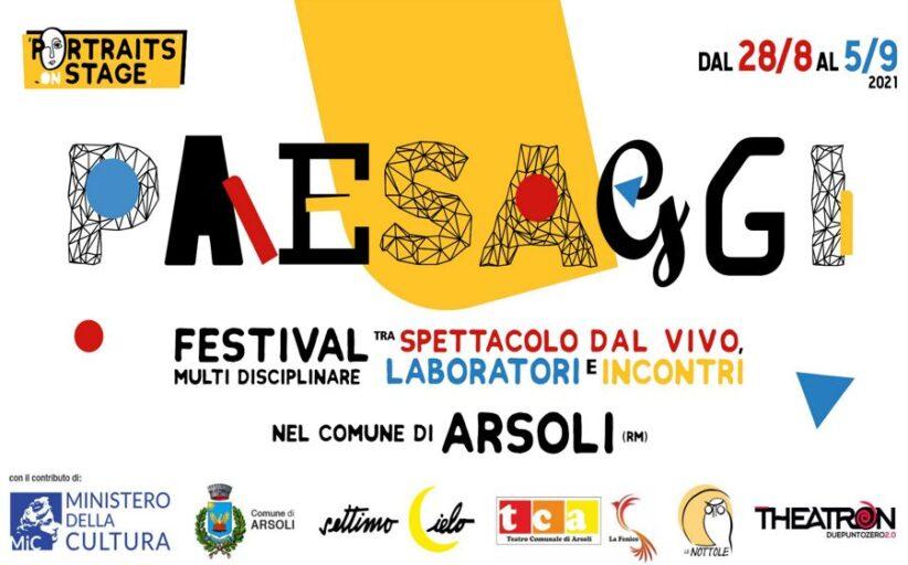 Paesaggi - Portraits On Stage 2021 ad Arsoli