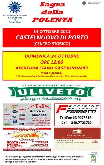 Sagra della Polenta 2021 a Castelnuovo di Porto (RM) | Sagre nel Lazio
